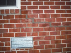 cracks in brick foundation repair contractor Tecumseh
