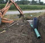 Shawnee drainage correction foundation repair